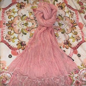 Stripped breathable fashion scarf
